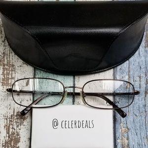 Prada VPR 56 H 8AE-101 Titanium Eyeglasses/VIE725